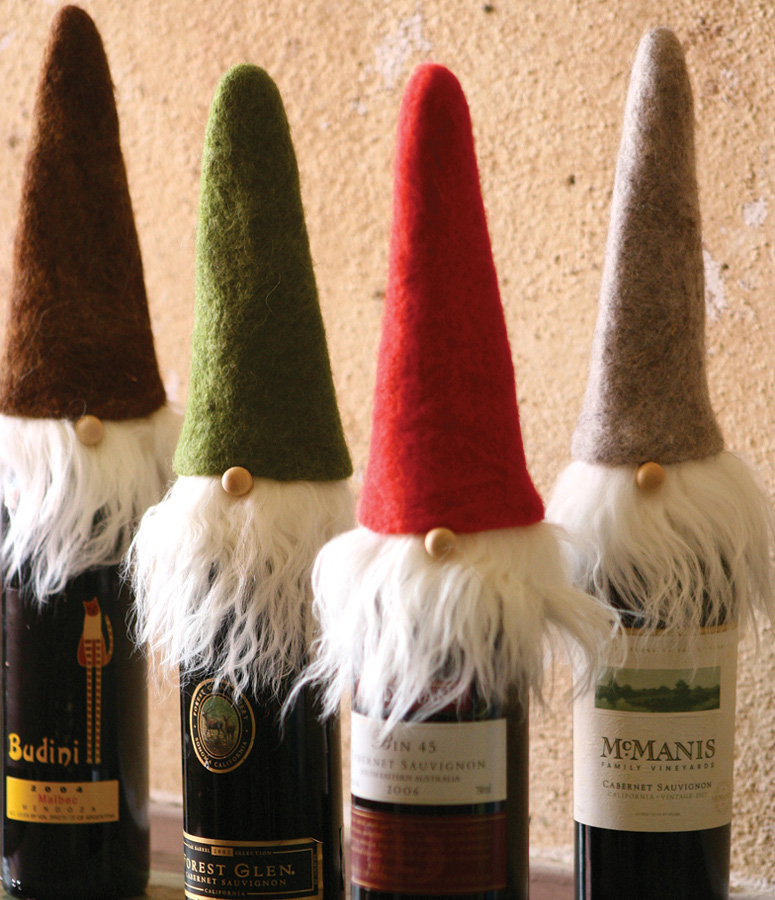 Wispy Beard Santa Wine Toppers The Green Head