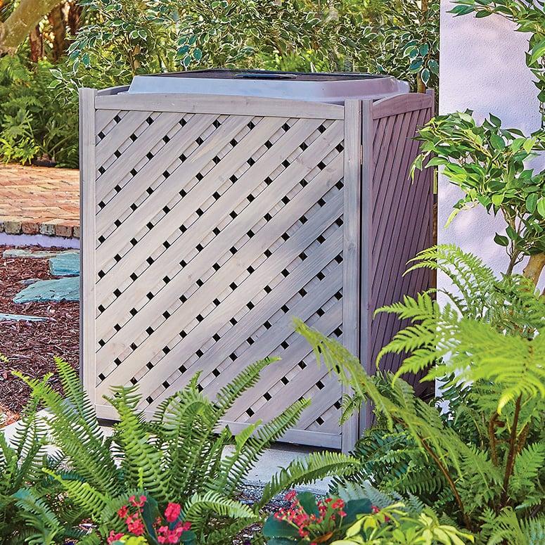 Wooden Lattice Air Conditioner Screen, Lattice Around Air Conditioner