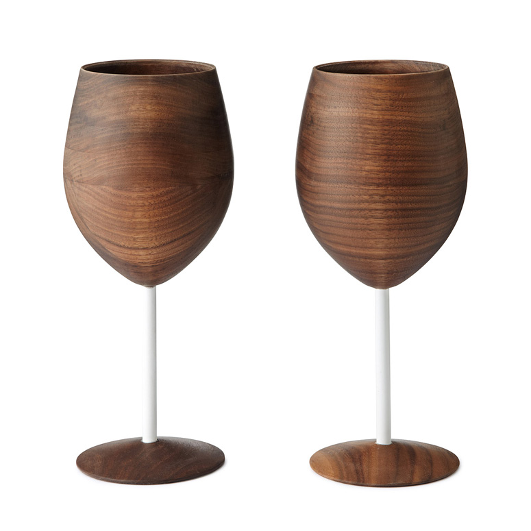 Wooden wine glasses the green head Unusual drinking glasses uk