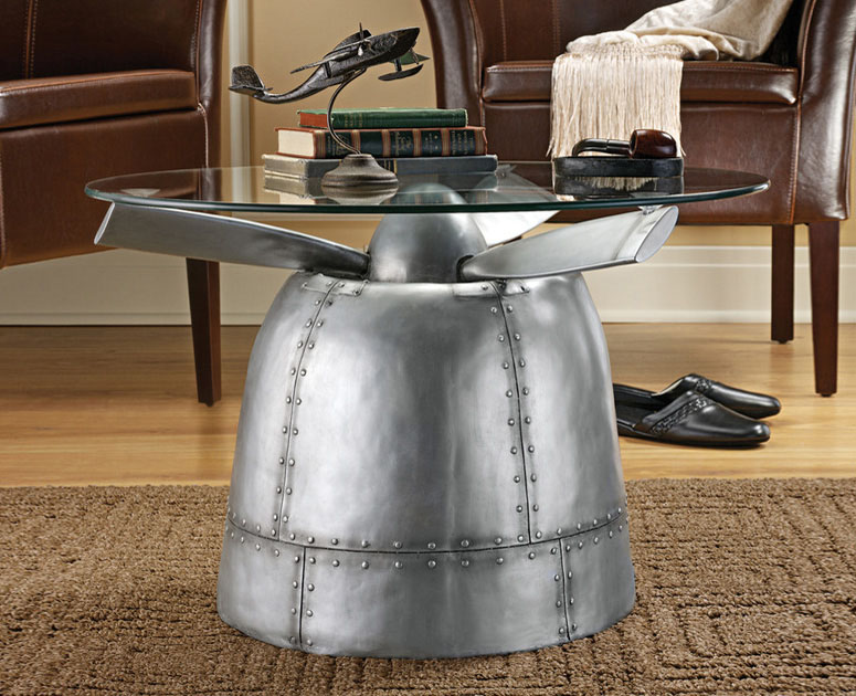 World war ii torpedo bomber propeller table the green head for Airplane decoration