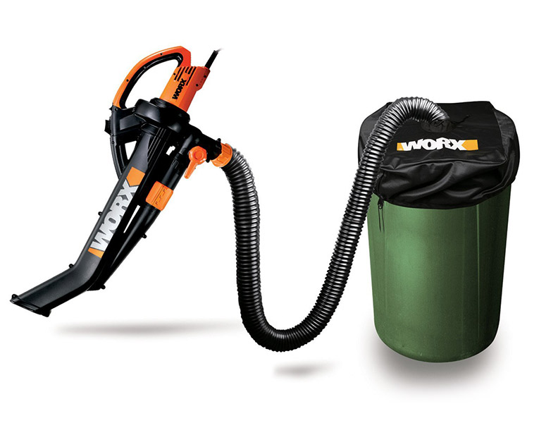 WORX TriVac - Blower / Mulcher/ Yard Vacuum with Leaf Collection System - The Green Head