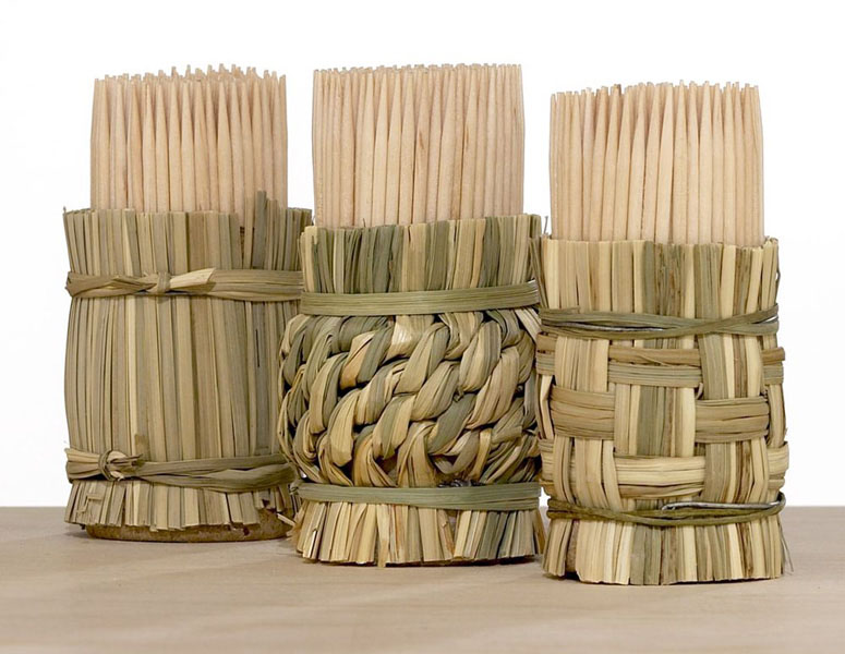 Woven Toothpick Holders