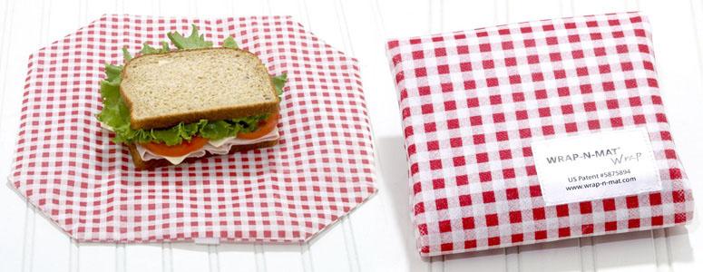 Wrap N Mat Reusable Sandwich Wrap Placemat