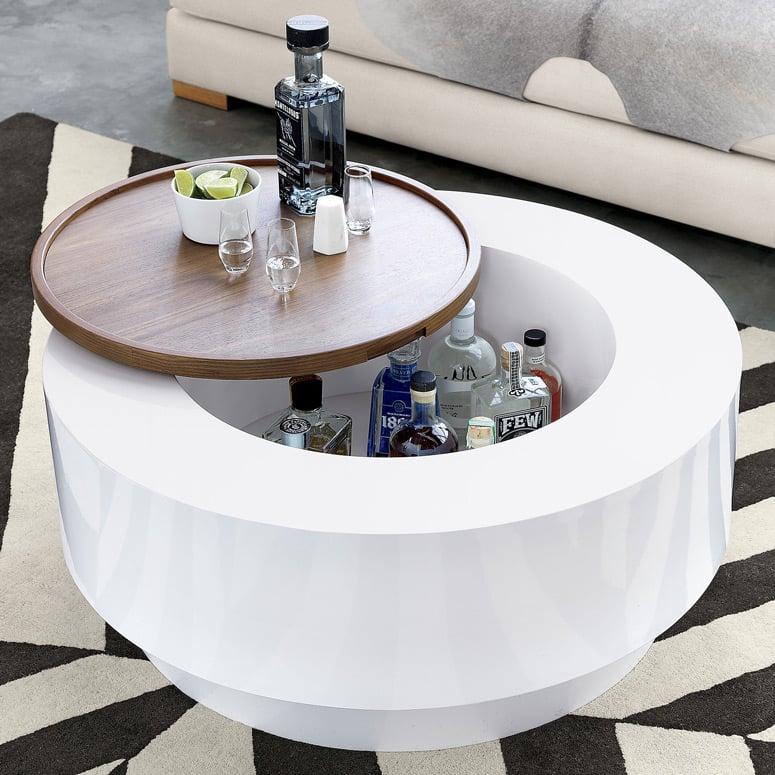 Ya Coffee Table With Built In Hidden Bar Storage
