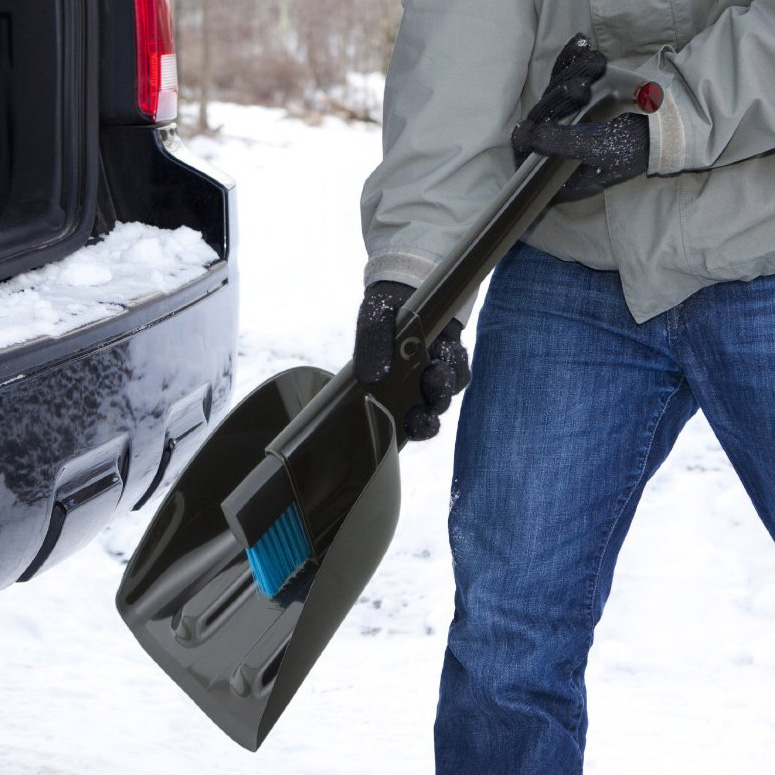 Zeus - All-In-One Snow Shovel, Brush, and Ice Scraper
