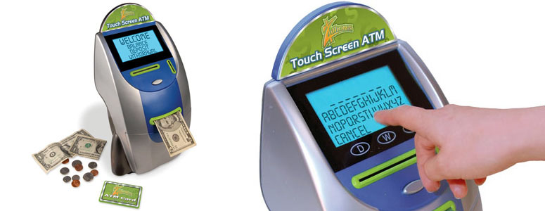 Zillions Touchscreen ATM Bank