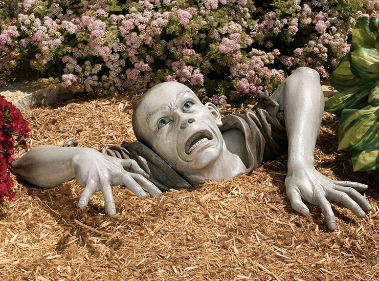 Lifesize Zombie Garden Sculpture The Green Head
