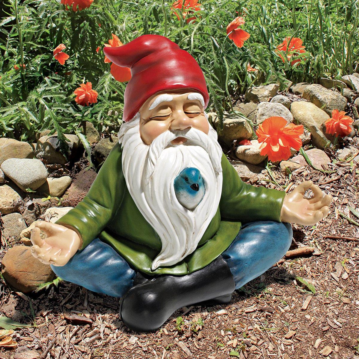 Gnome In Garden: Zen Garden Gnome