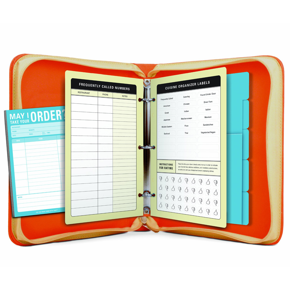 Zippered Take Out Menu Organizer The Green Head