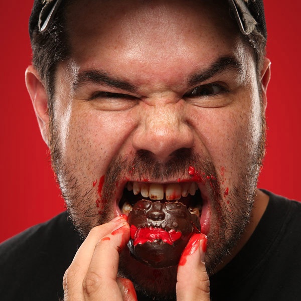 Zombie Head Bon Bons With Cherry Brains
